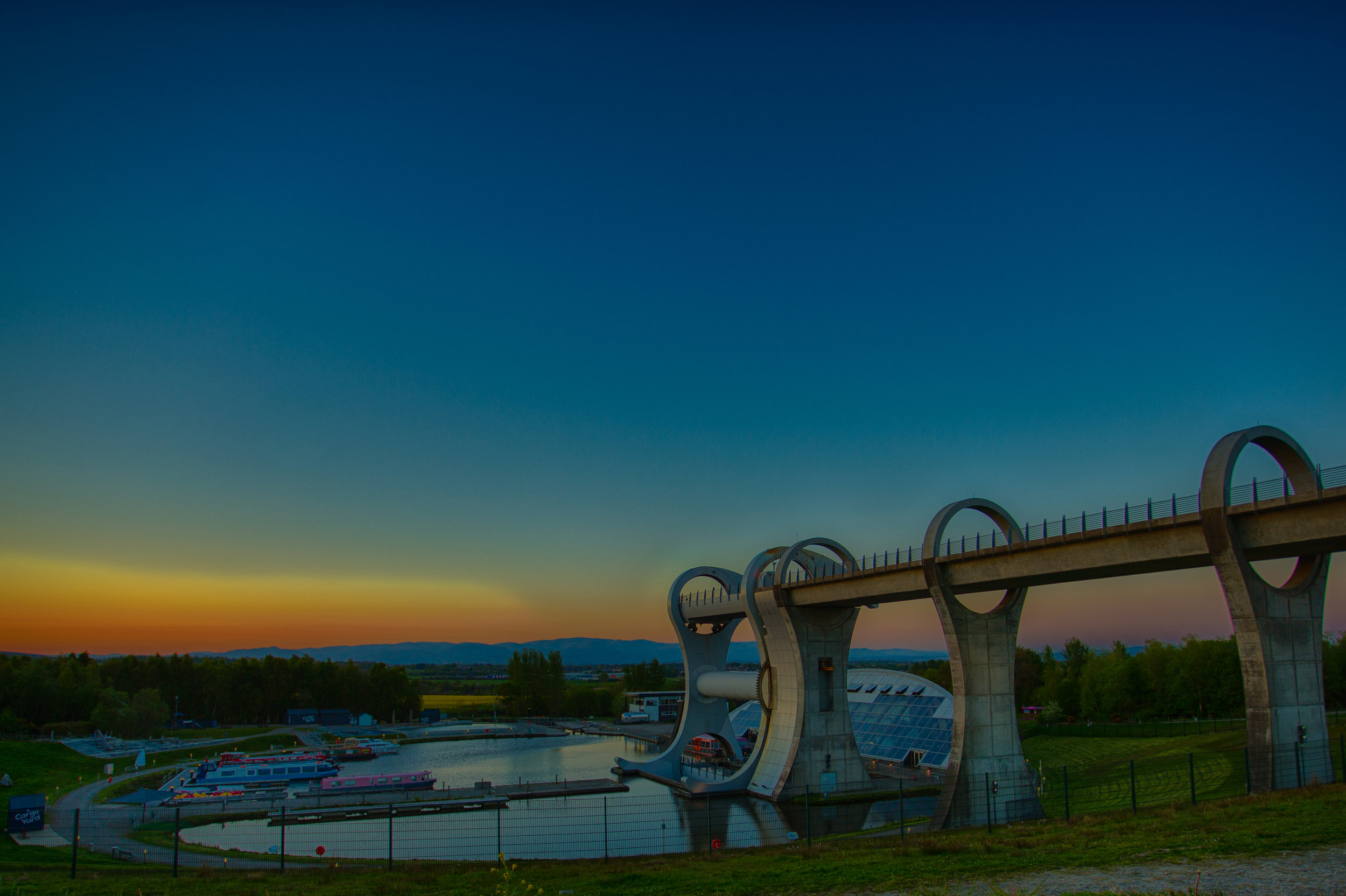 HDR shot of the Falkirk Wheel