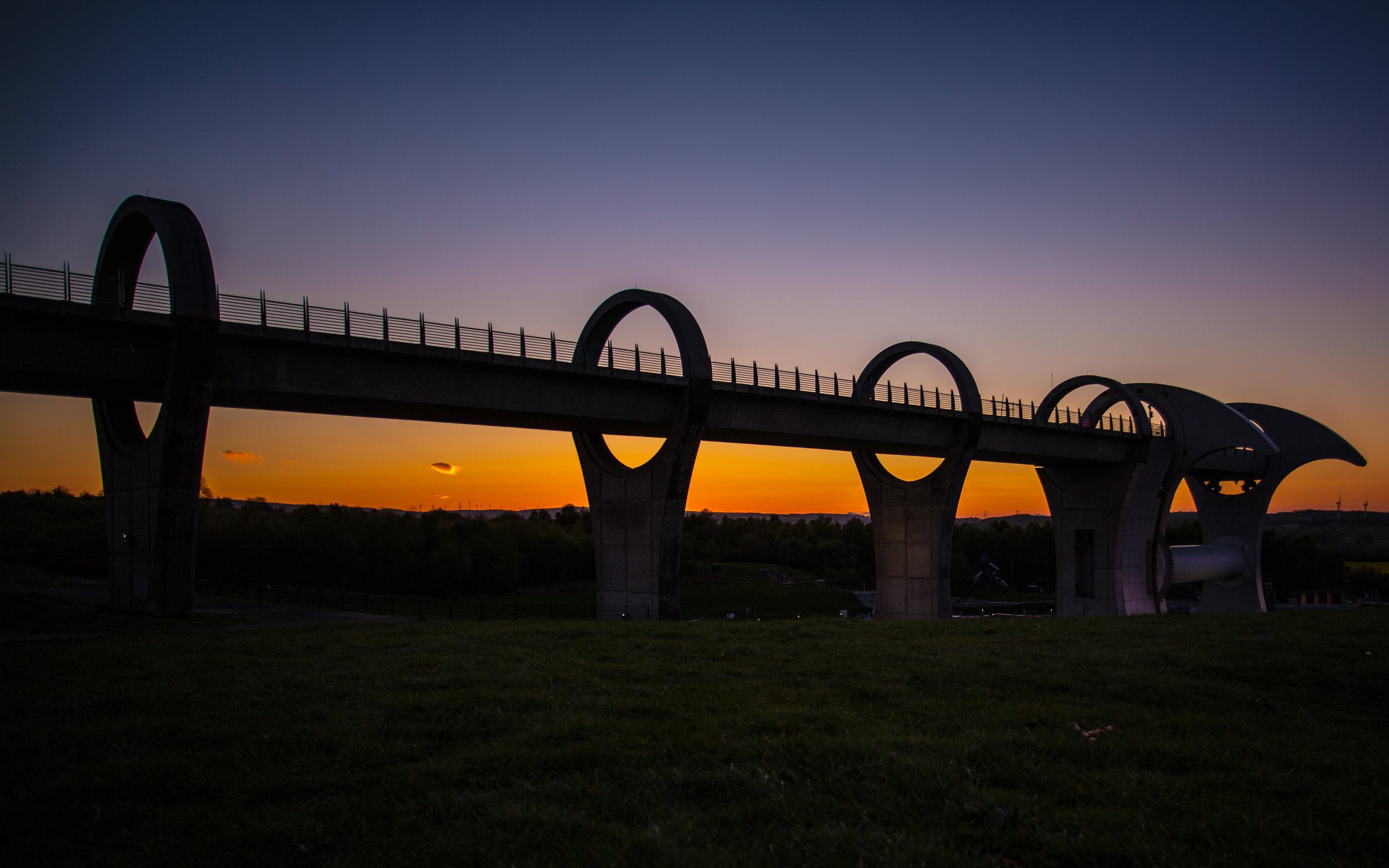 Silhouette of the Falkirk Wheel