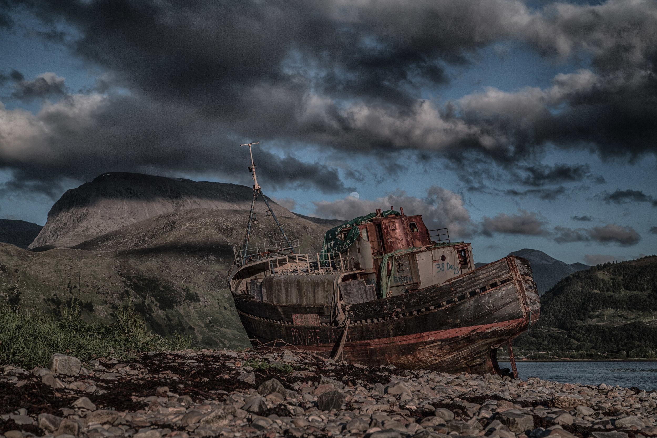 Fishing Vessel and Ben Nevis