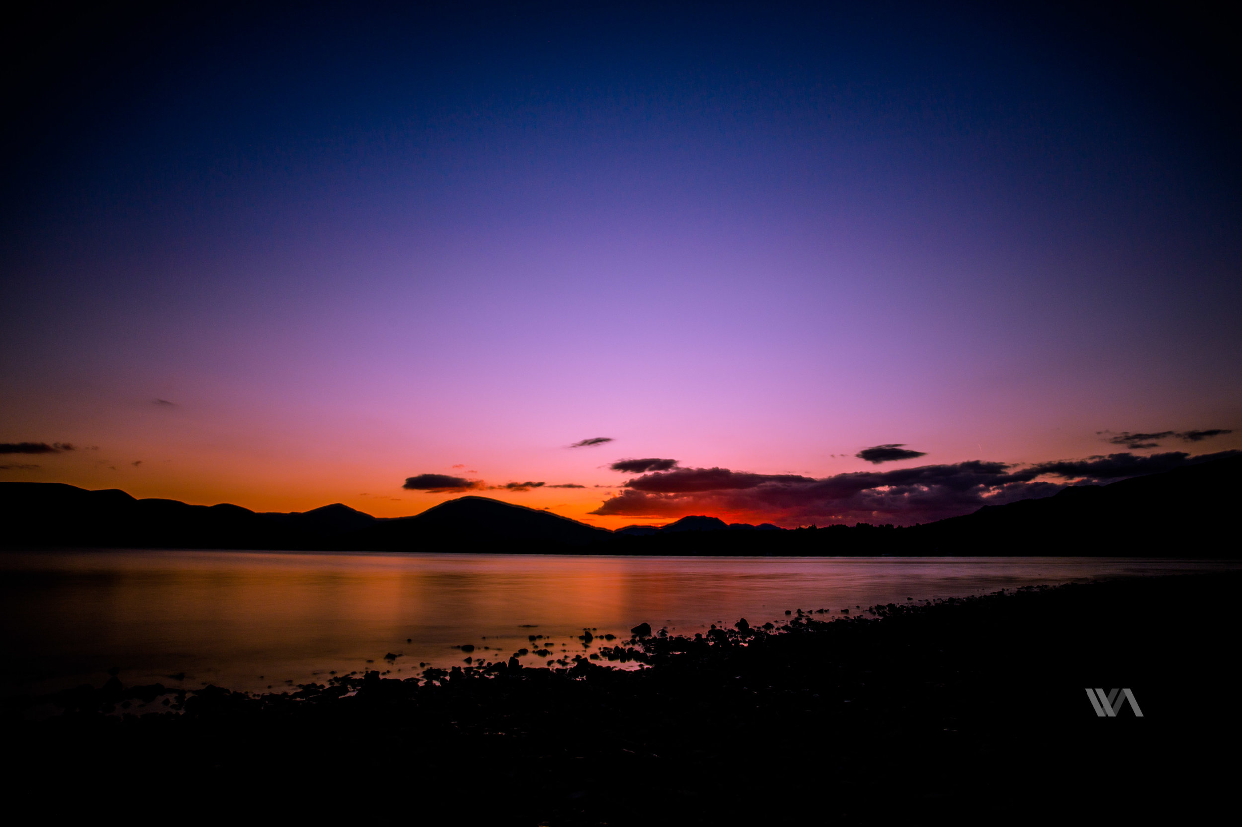 Getting dark at Loch Lomond