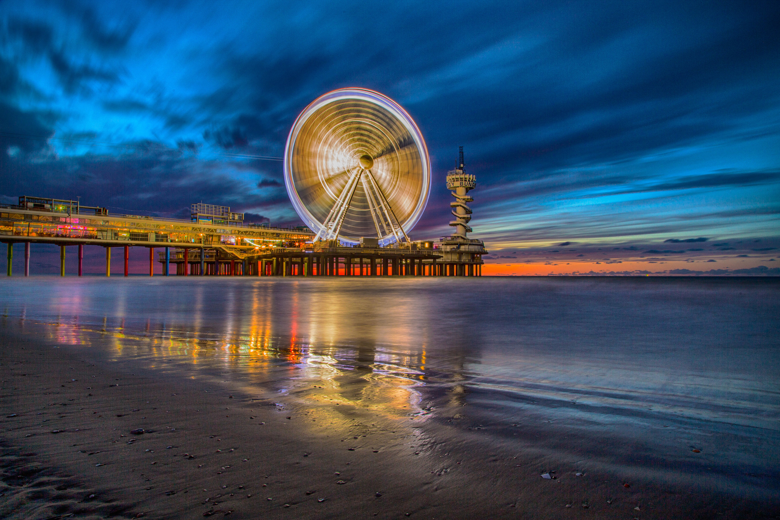 Light Trails at the Pier
