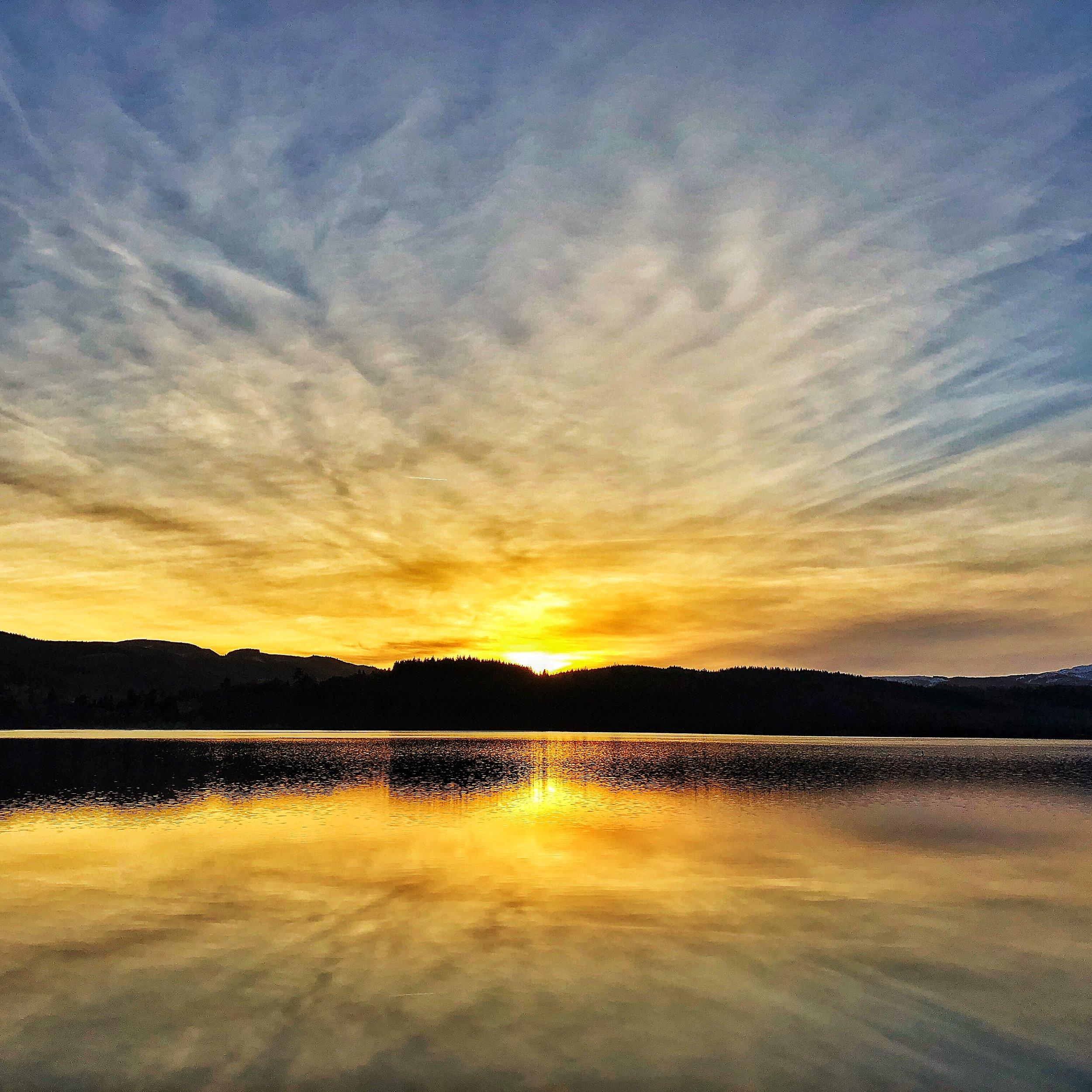 Loch Achray at Sunset
