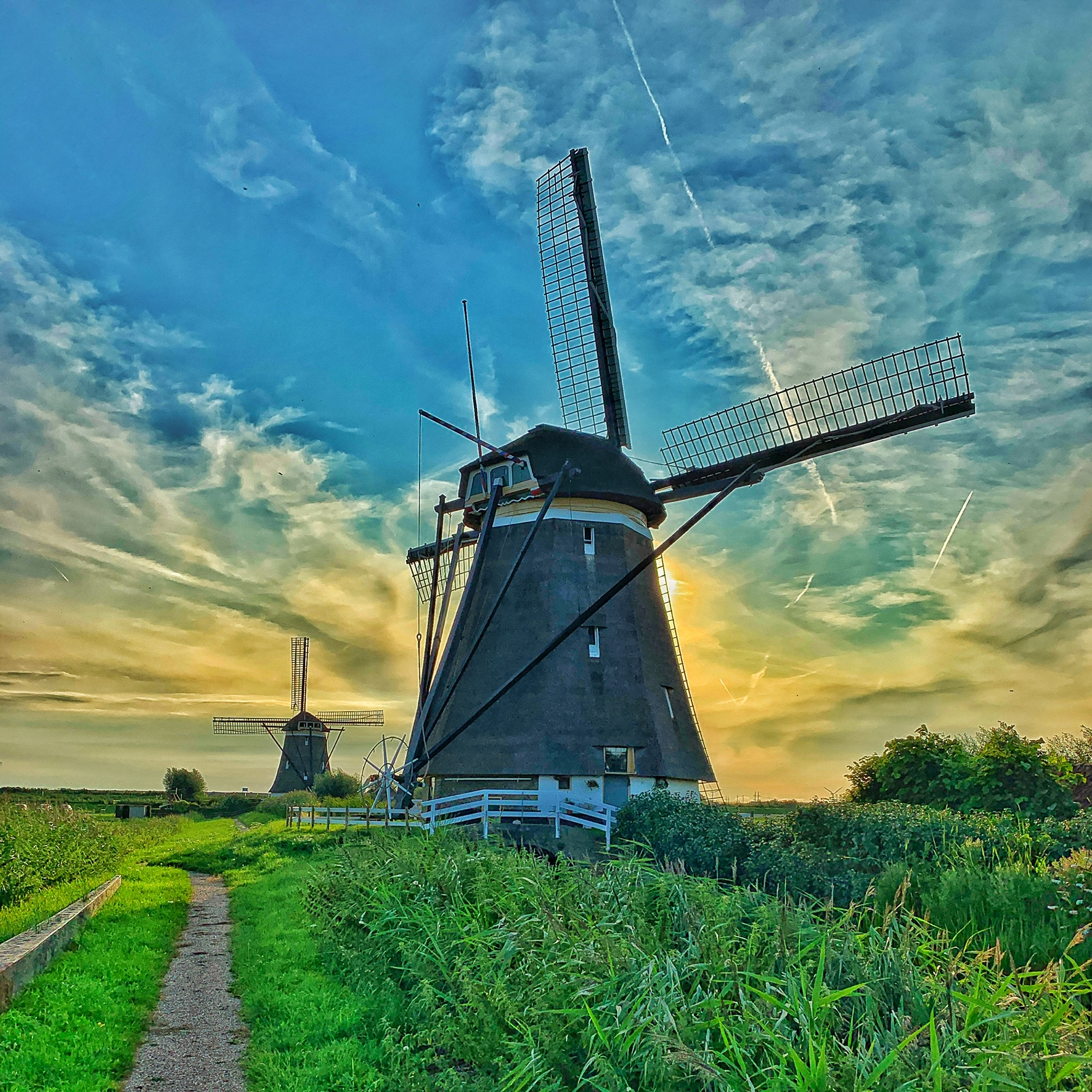 Two of the Windmills at Sevenuizen