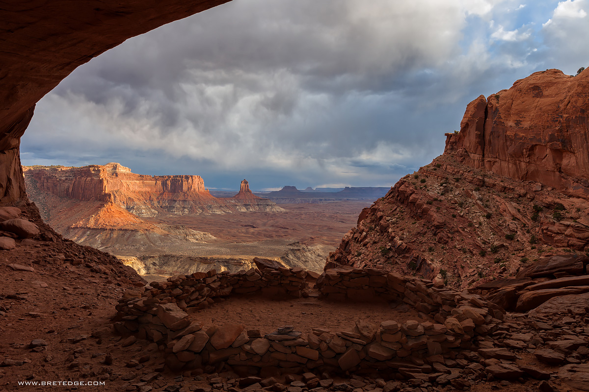 Last Light...and Last Visit...at False Kiva, Canyonlands National Park
