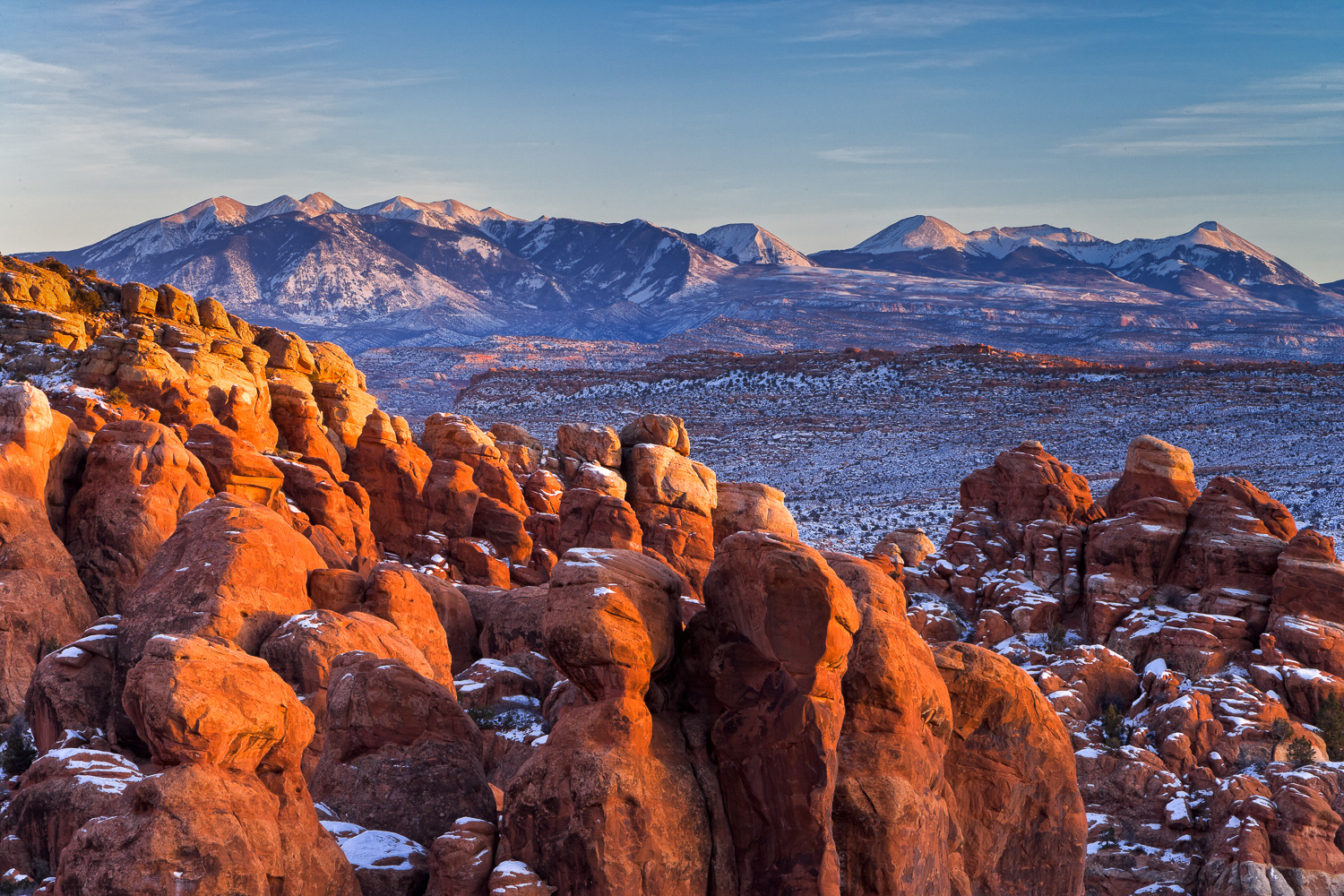 Winter at the Fiery Furnace, Utah