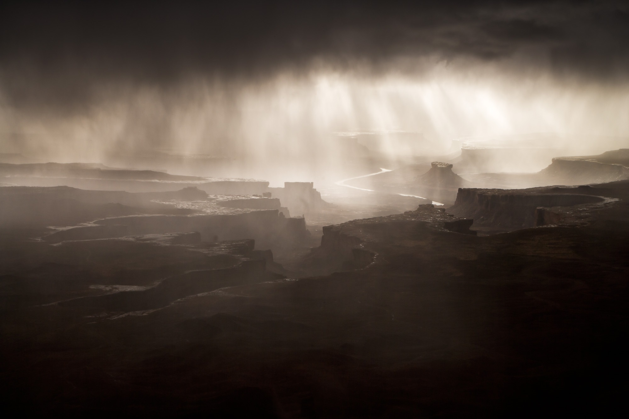 Approaching Storm at Green River Overlook, Canyonlands National Park, Utah