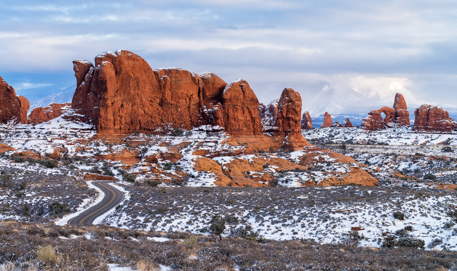 Winter Evening at The Windows, Arches National Park