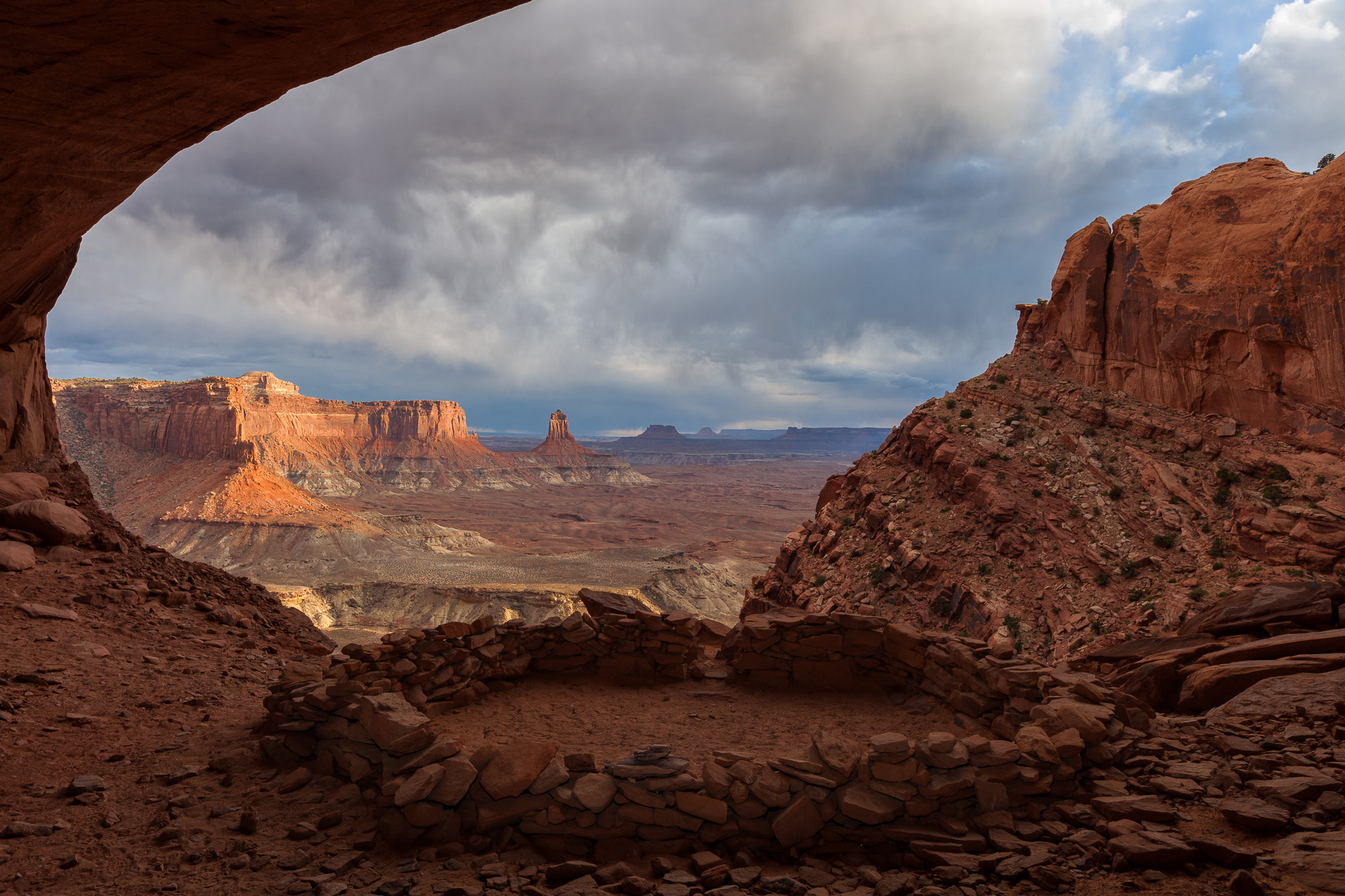 Last Light at False Kiva, Canyonlands National Park, Utah