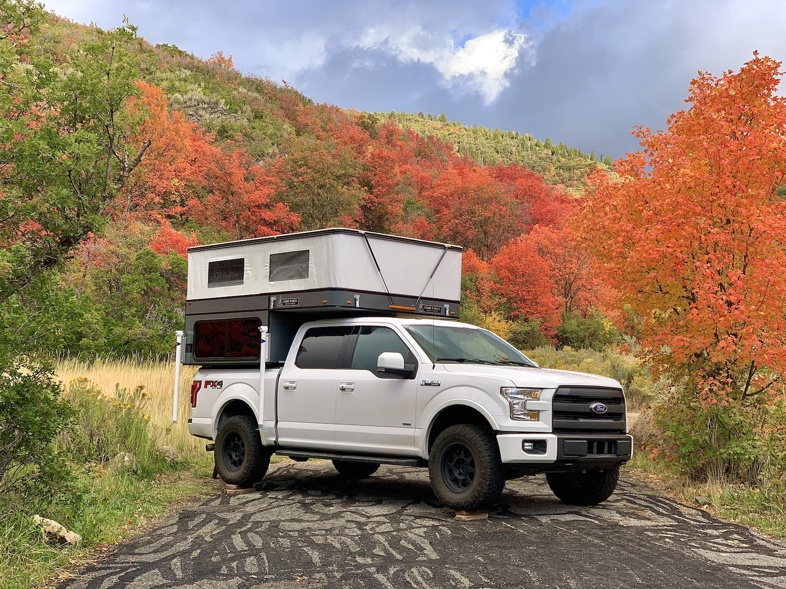 Betty and Clark - A 2015 Ford F-150 and 2019 Four Wheel Campers Raven, the perfect set up for outdoor adventures and photography.
