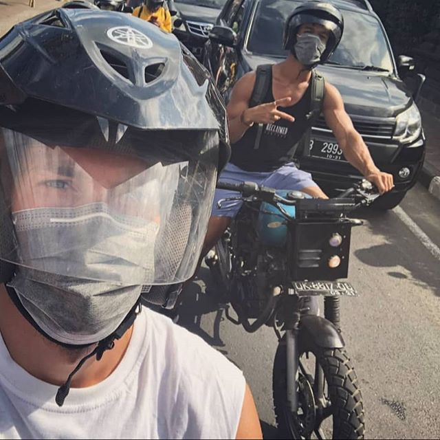 Bali Biker Boys 🚴 @mr_t_allen #bali #custommotorcycle