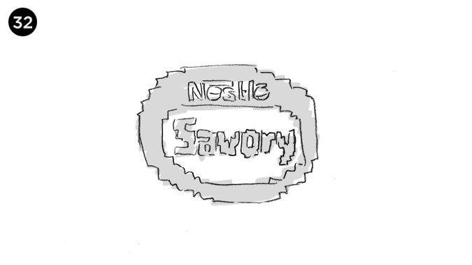 y cerramos con el logo pixelado de savory