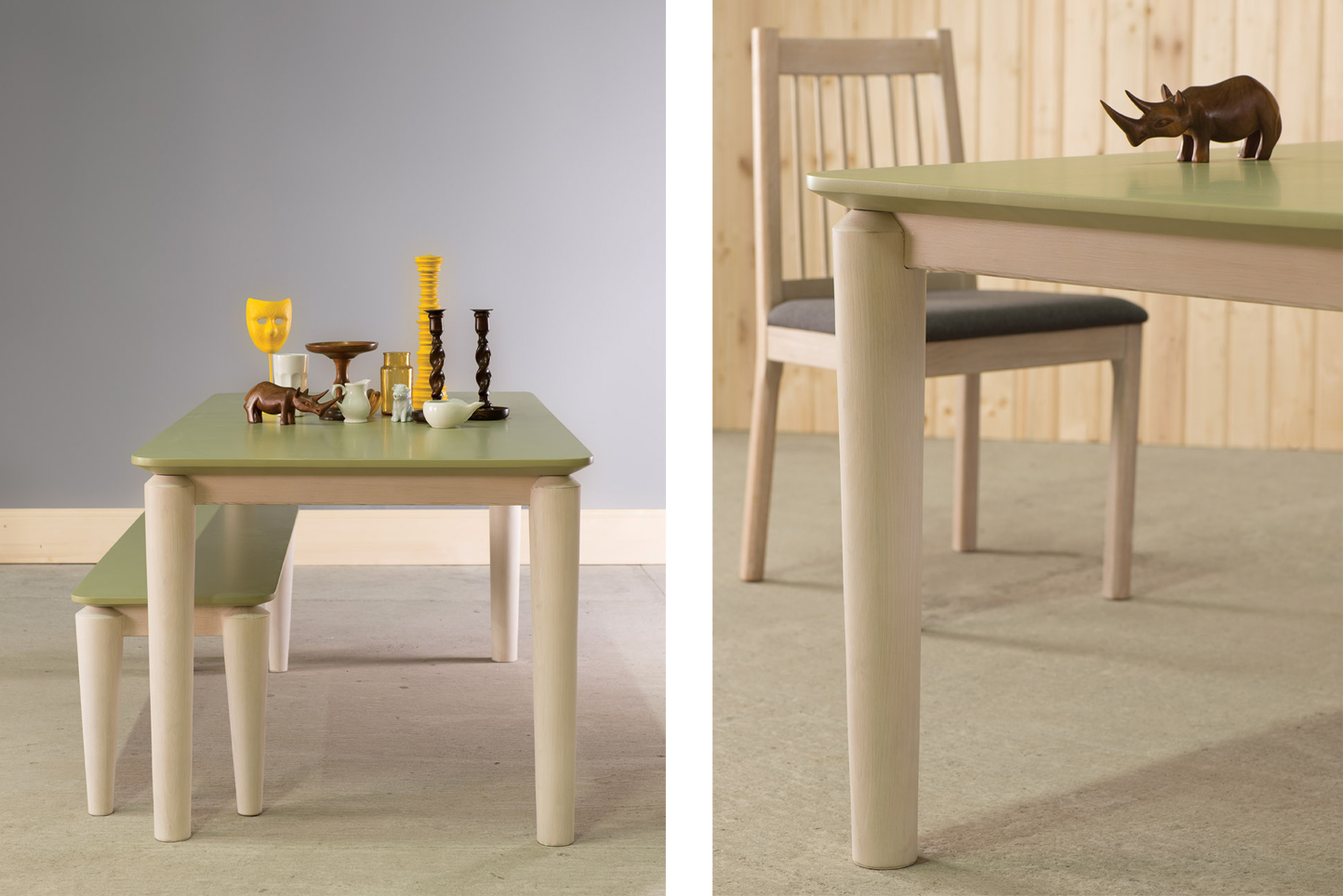 Hongg Dining Table and Bench with Eroilor Dining Chair