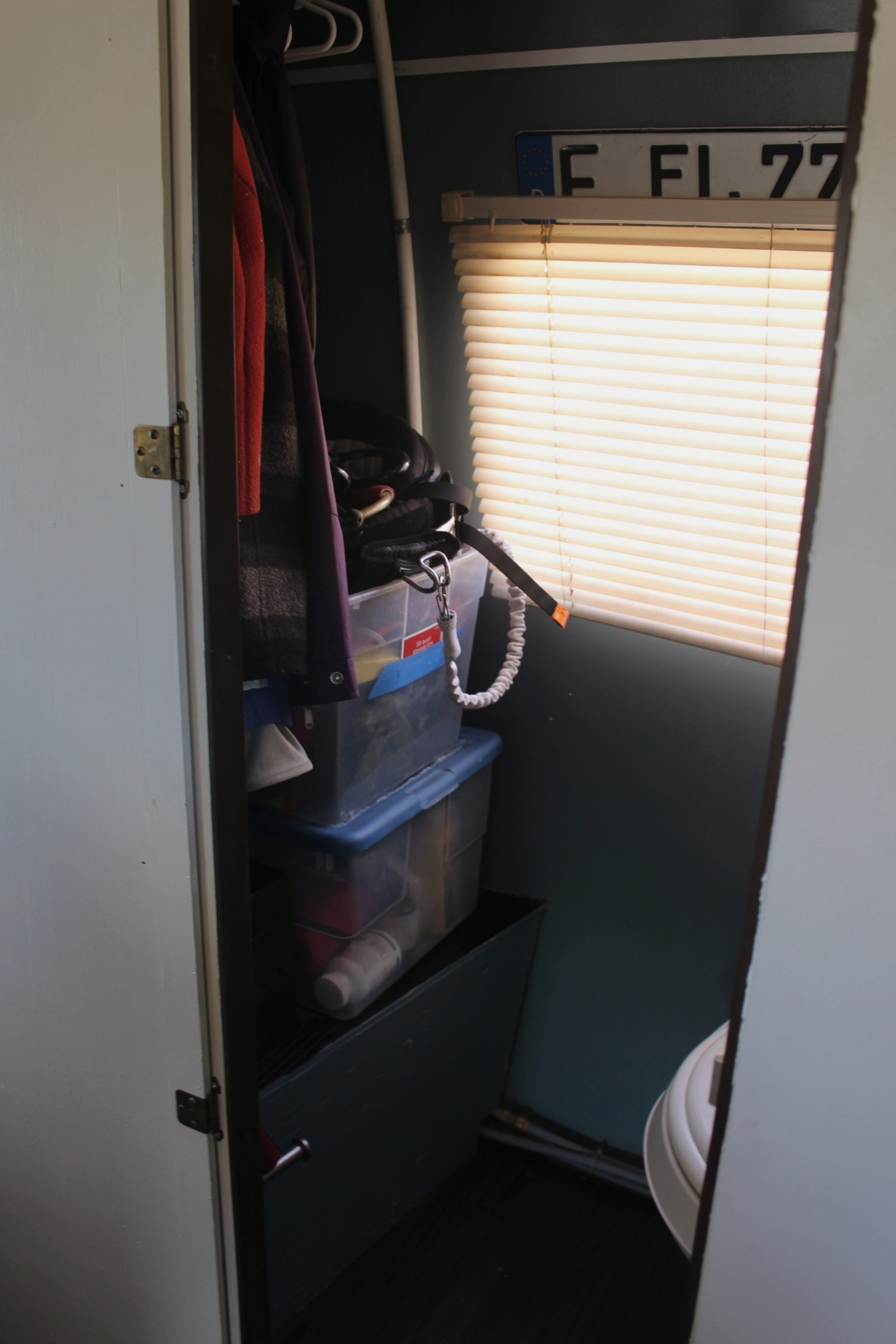 New bathroom storage