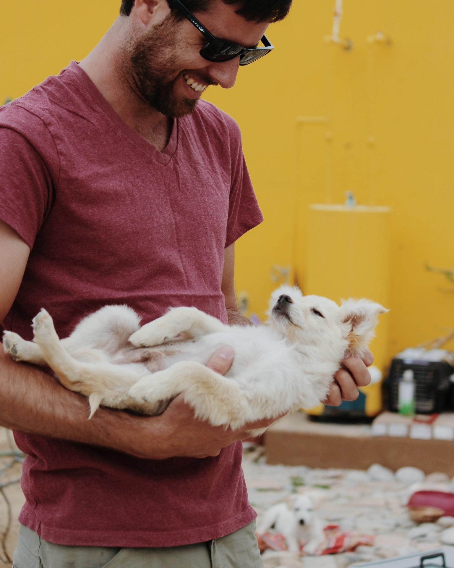 Ok, more Cameron + puppy pics