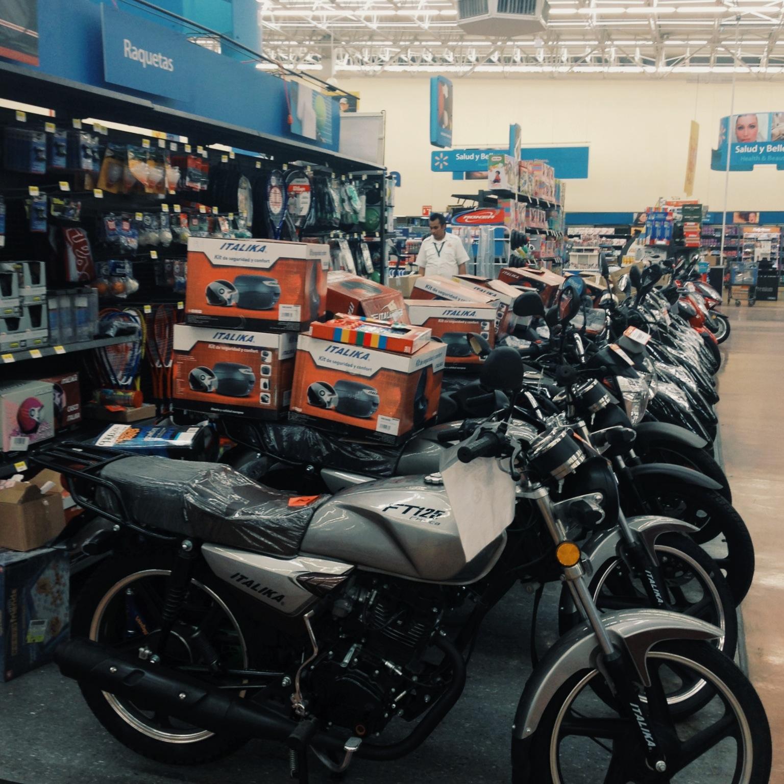 Walmart sells motos here