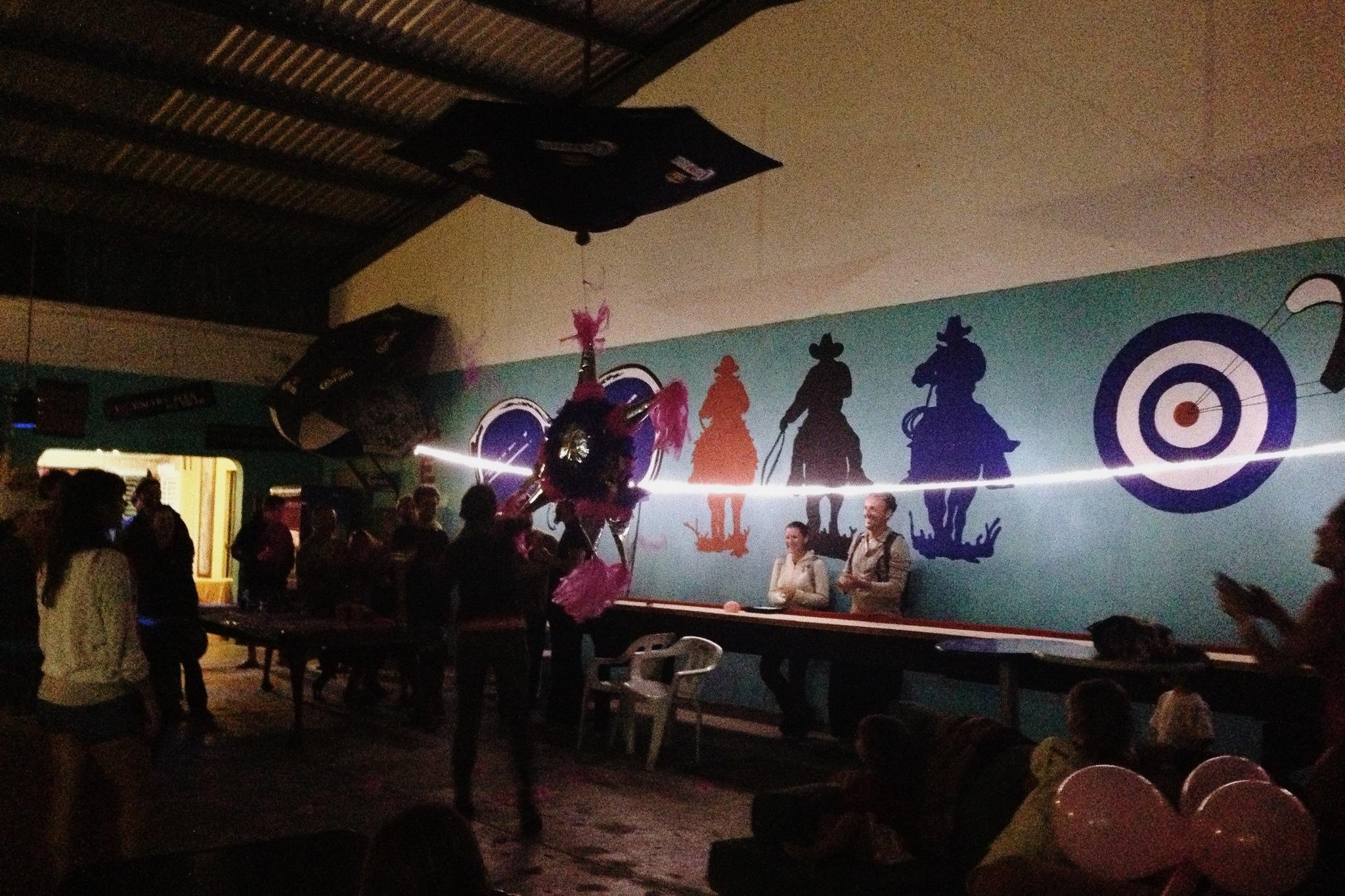 Birthday piñata party at Playa Central