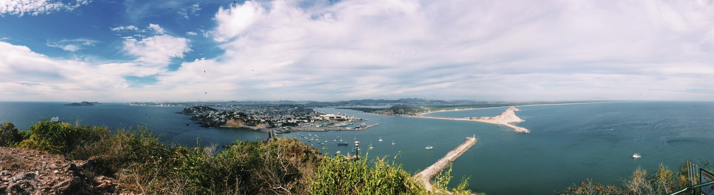 Panaramic view of Mazatlan from the second tallest natural lighthouse in the world.