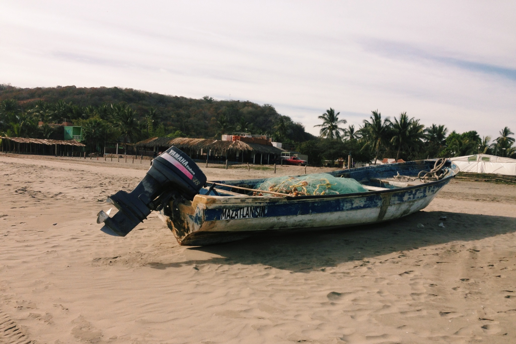 Typical fishing boat on the beach