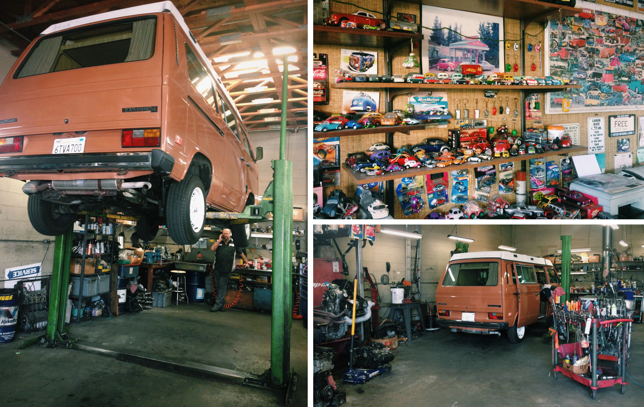 Getting a Westy checked out. We really loved this one but the motor was toast and all my tools are in Mazatlan.