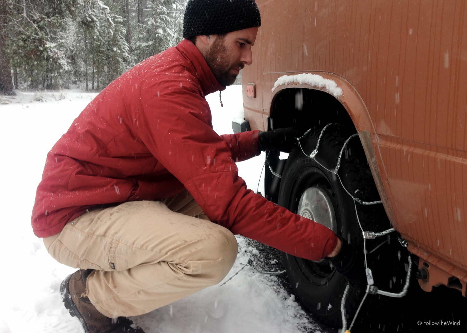 Snowchains Snow Vanagon Oregon