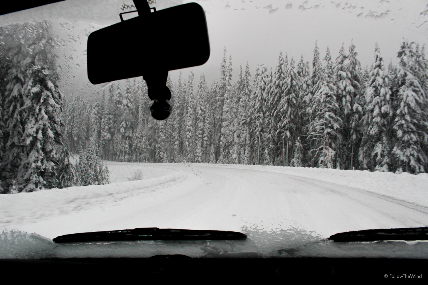 Snowstorm Driving Vanagon Oregon