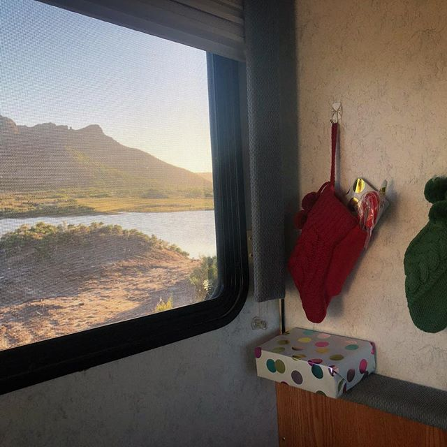 Santa paid an early visit to the RV 🎅🌵 . #followthewind #rvlife #fulltimerv #winnebago #ontheroadinmexico #mexico #baja