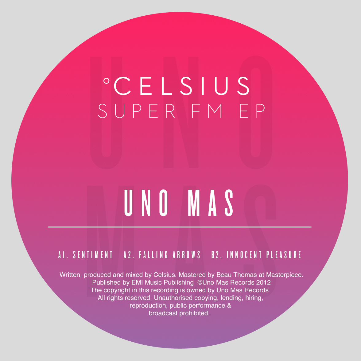 Celsius - Super FM EP (UNO-002)