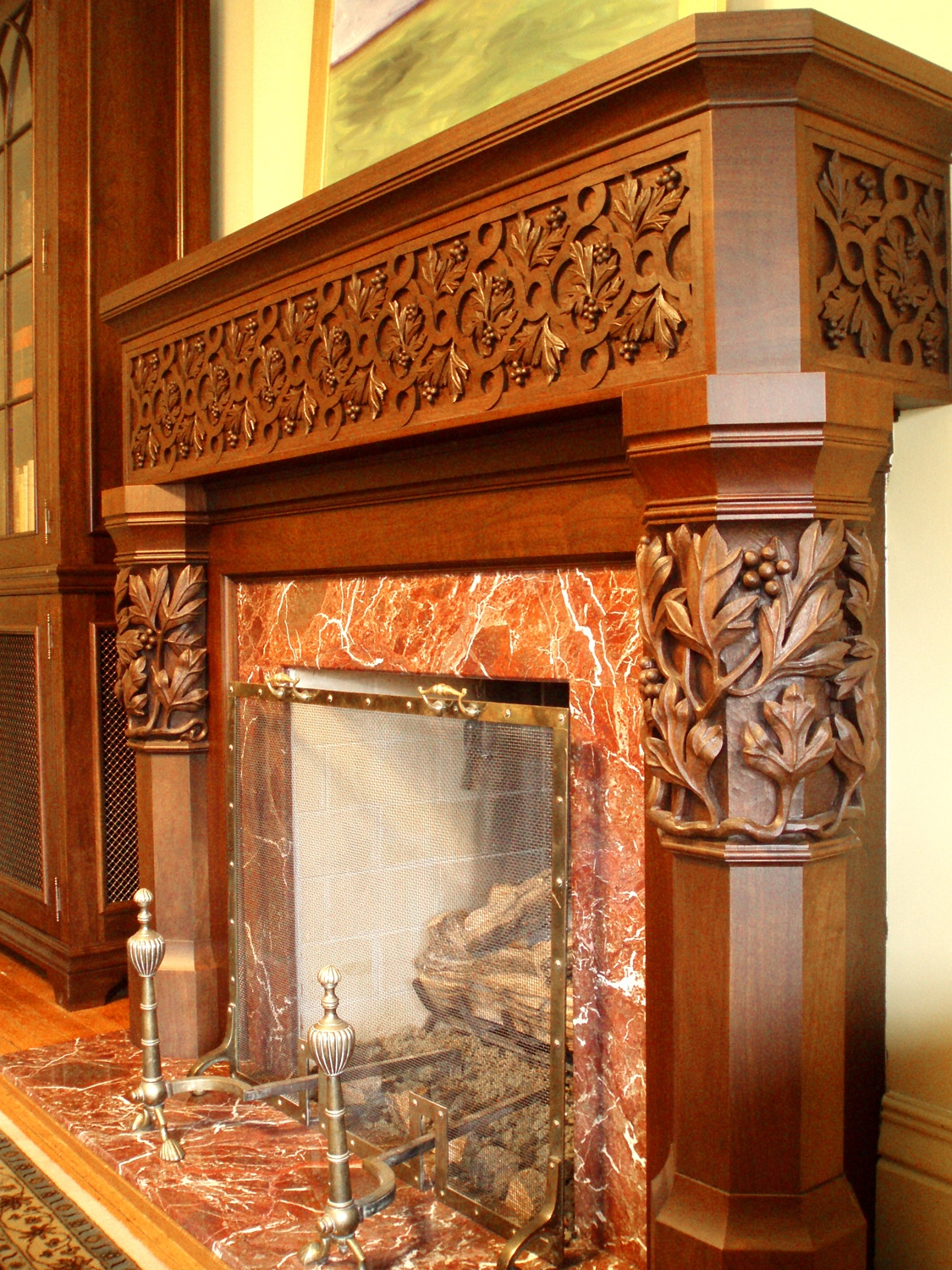 Walnut Fireplace