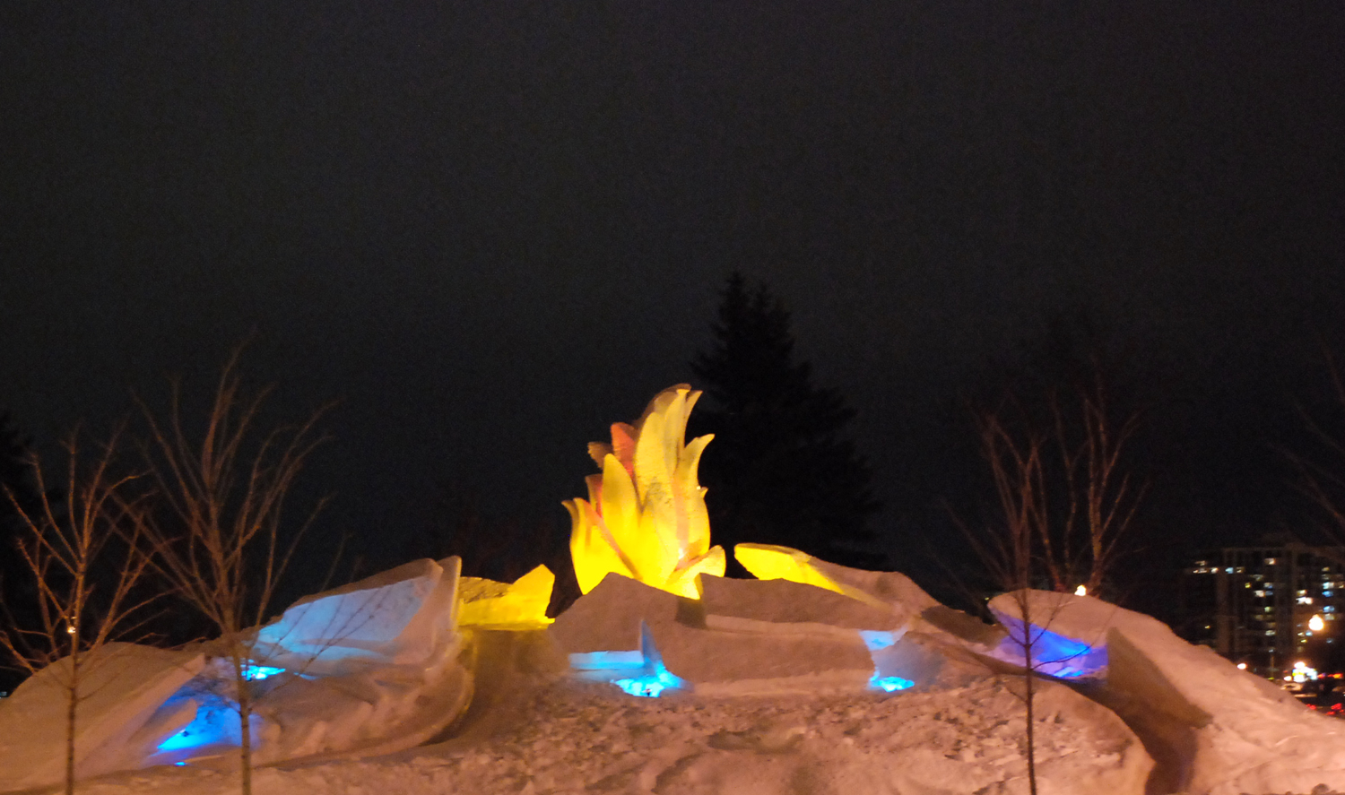 Fire and Ice, Snow-sculpture