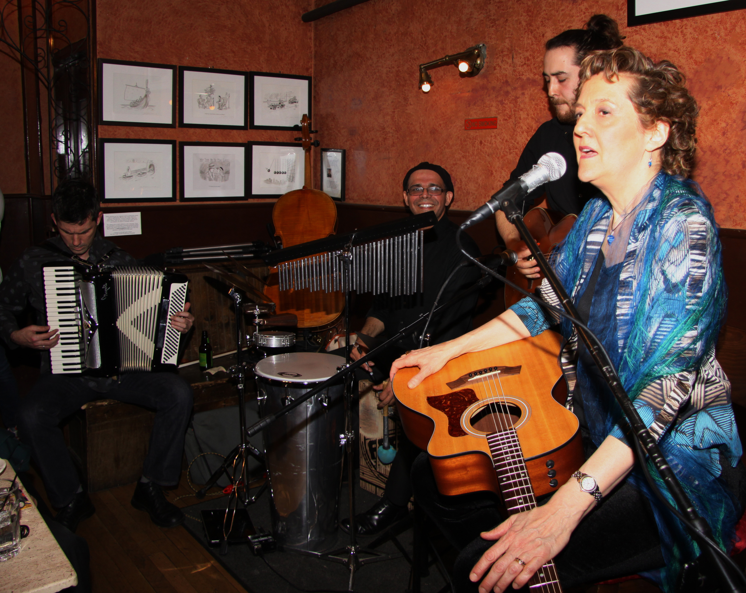 The band at my Caffe Vivaldi CD Release show