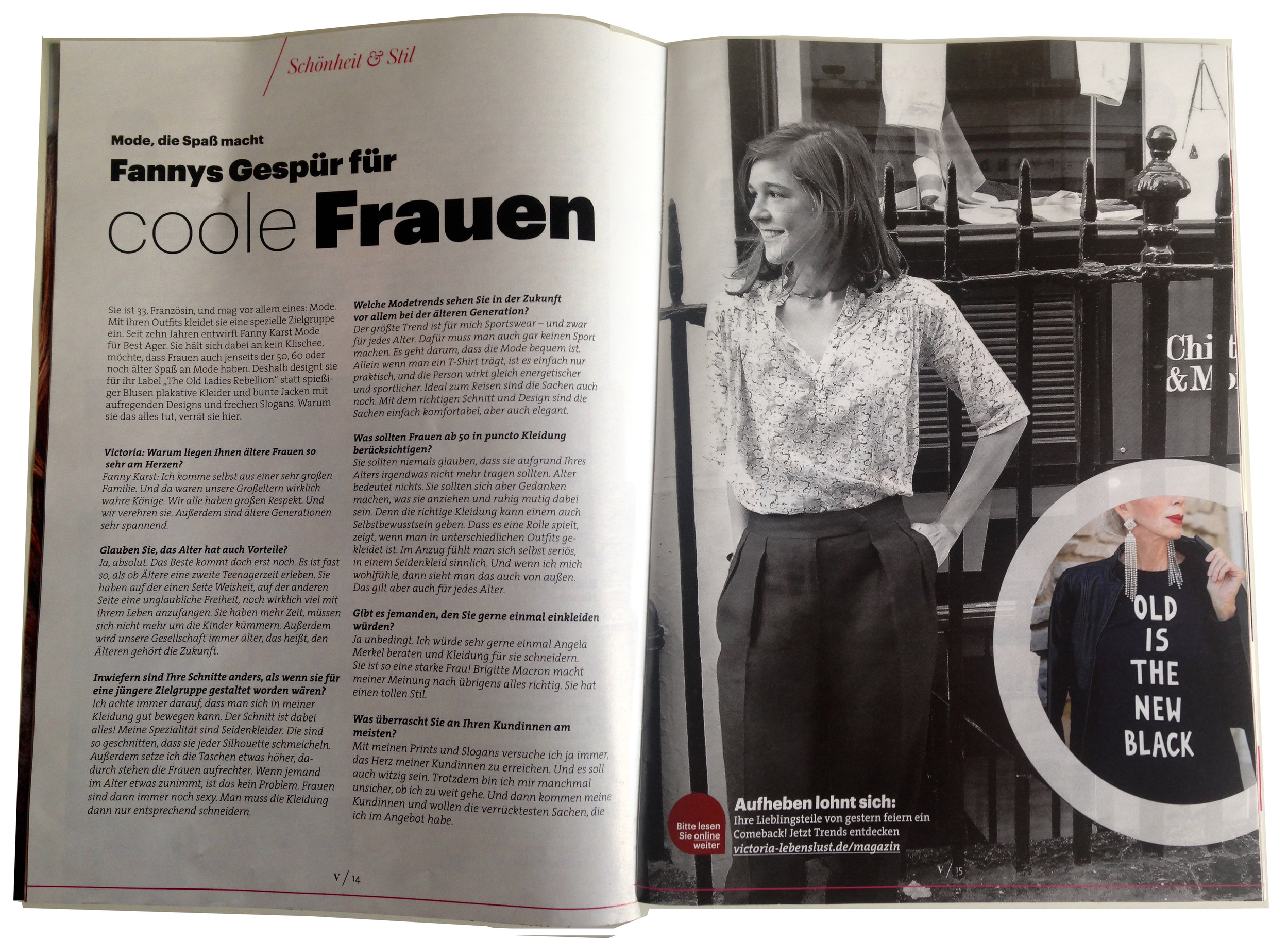 VICTORIA MAGAZINE IN GERMANY / OCTOBER    PS: I DONT UNDERSTAND GERMAN AND THIS PHOTO IS ALMOST 10 YEARS OLD BUT GERMANY HAS BEEN HUGELY SUPPORTIVE THESE LAST FEW YEARS, I WILL MOVE THERE NEXT I THINK...