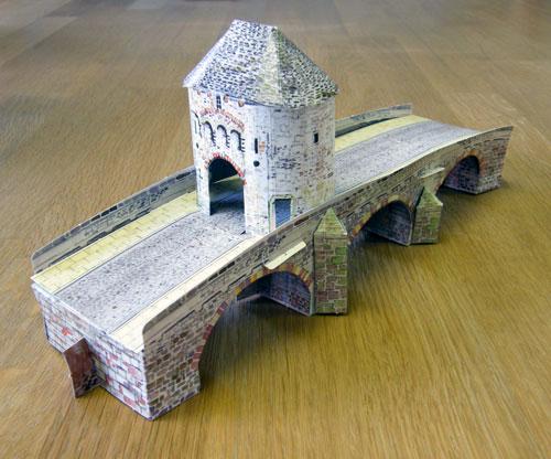 Model of Monnow Bridge, Monmouth