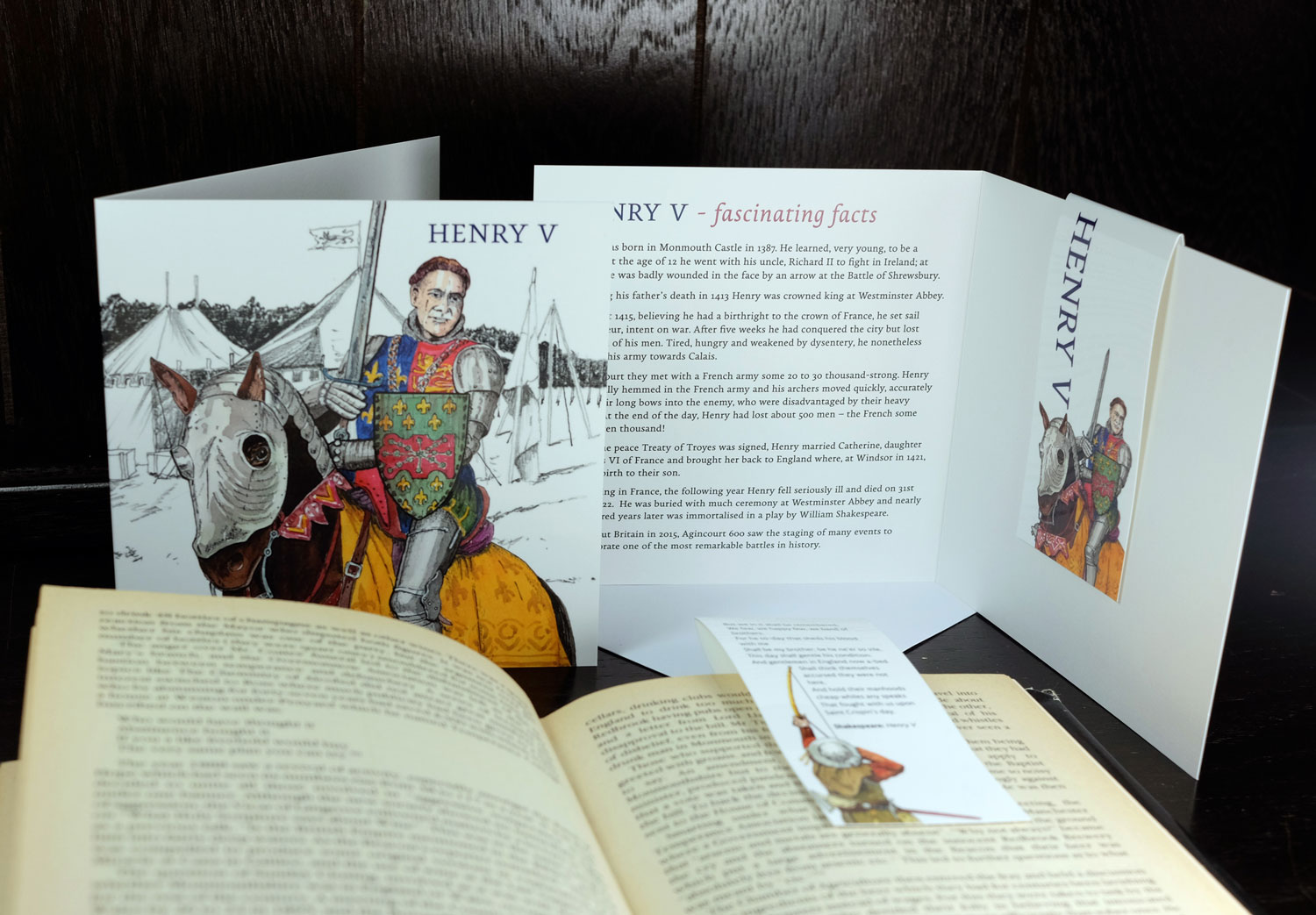 The first in our series of Historical figures - Henry V who was born in Monmouth Castle.  This year celebrates 600 years since the battle of Agincourt.  Events are being held up and down the Country (including Monmouth) to celebrate.
