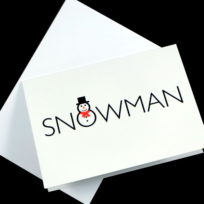 Artfull Puffin Christmas Snowman Card