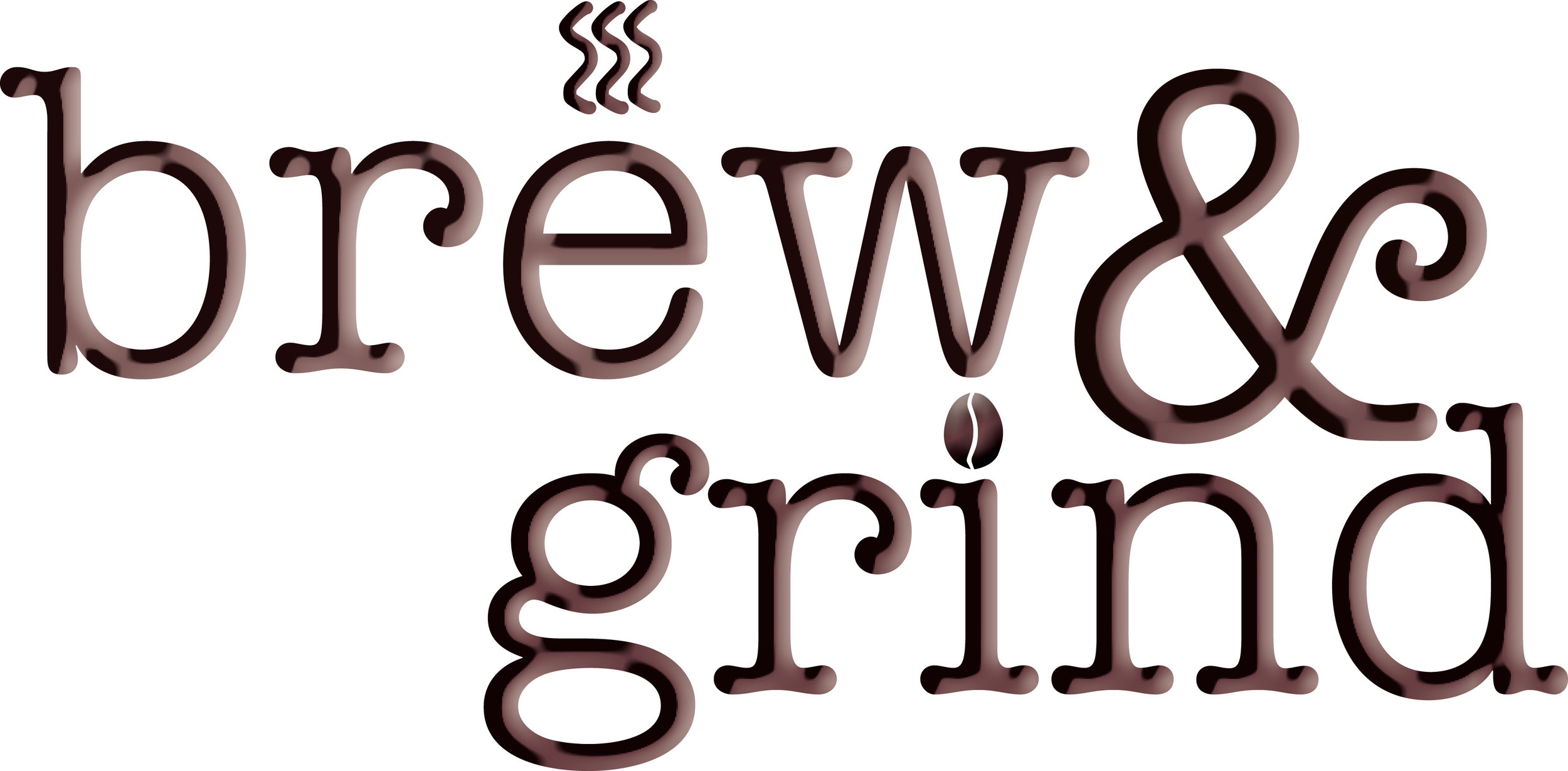 Approved logo for Brew and Grind coffee shop.