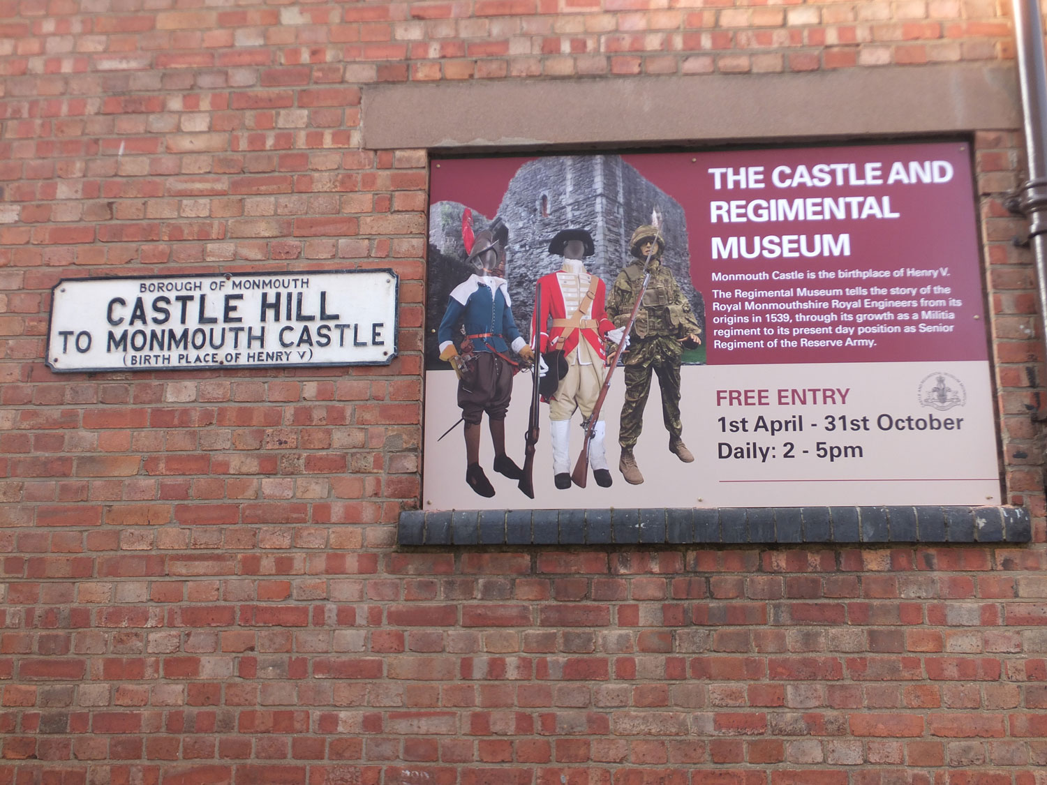 New signage for the RMONRE Regimental Museum to complement the Heritage Interpretation.