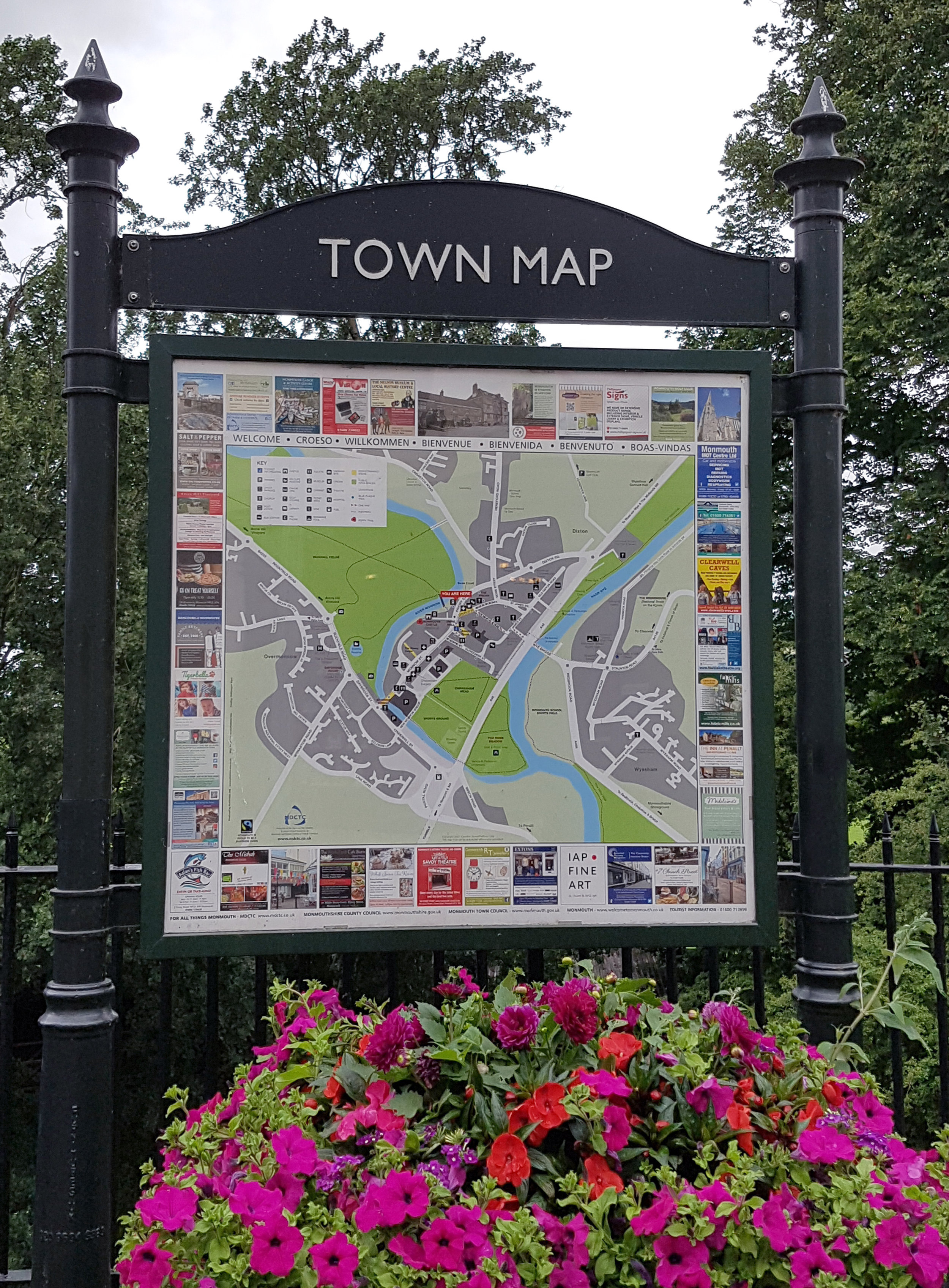 Monmouth Town Map 2017