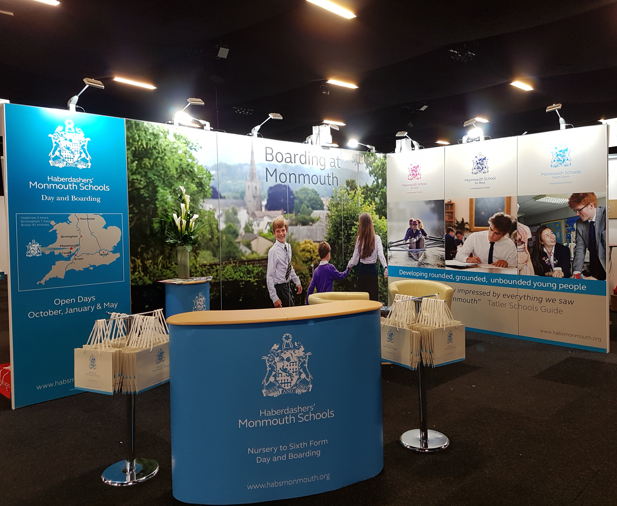 Haberdashers' Monmouth Schools, exhibition stand at Independent Schools Show 2017