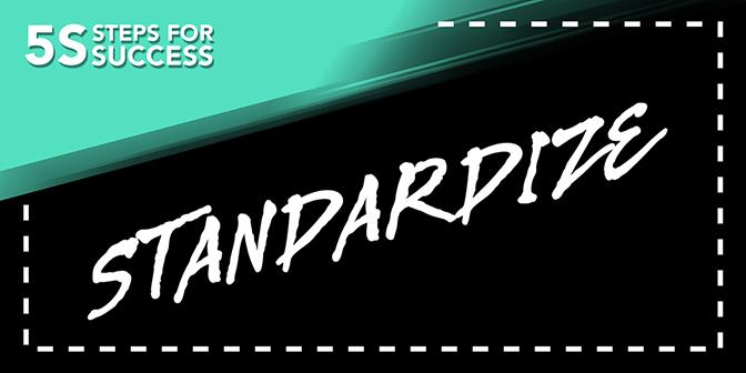 5S Banner - Standardize