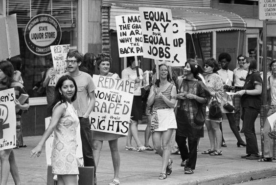 1970. Manifestación de la Coalición para la Liberación de la Mujer, Detroit.
