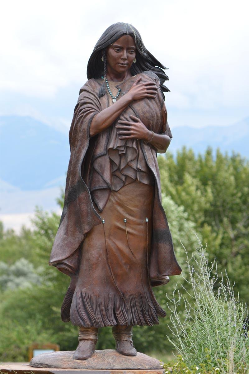 Sacagawea. Exploradora de 1790. Tribu Agaidikan