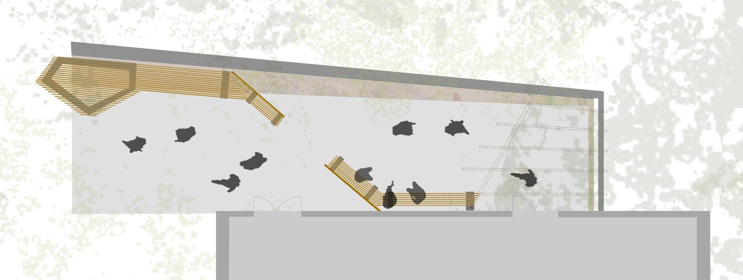 Living Courtyard, final plan drawing. May 2012.