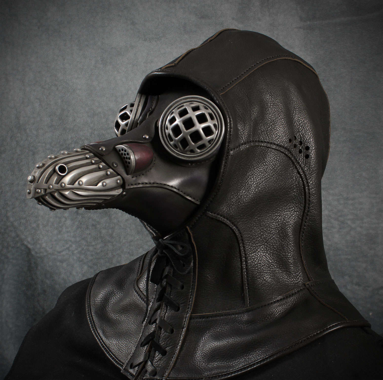 Miasma with leather hood