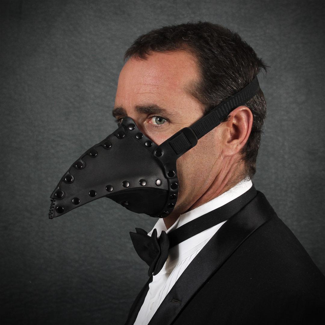 Pestis Plague Doctor Mask in Black