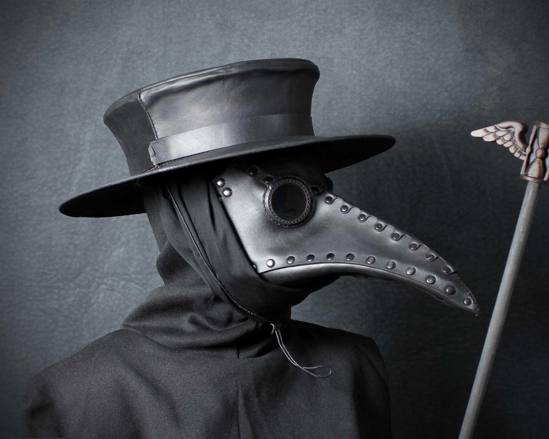Schnabel Plague Doctor Mask in Black