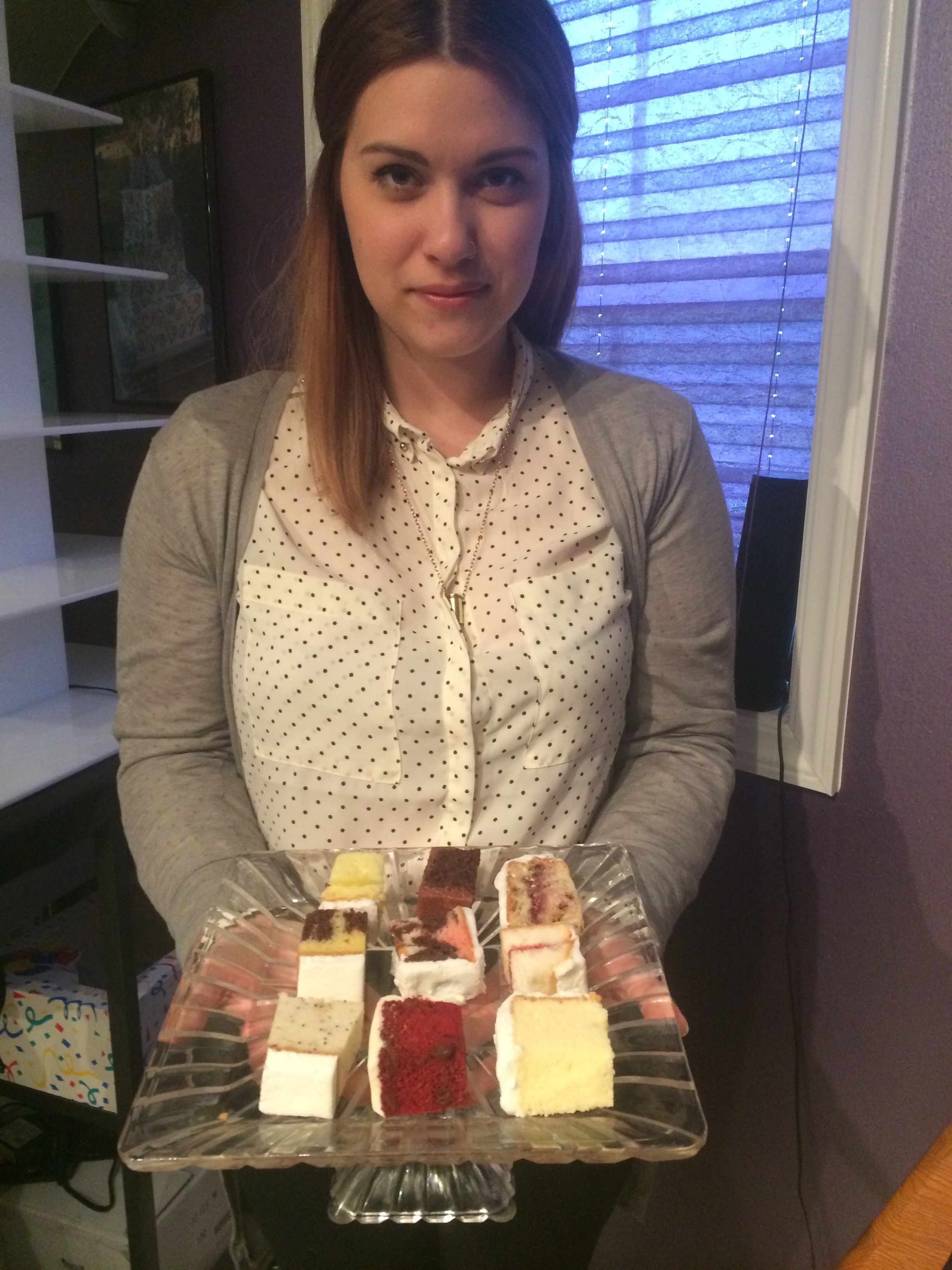 Cake tastings are one of the quintessential fun and exciting parts to planning any wedding. Be sure to enjoy it! Modeled by Chelsea.