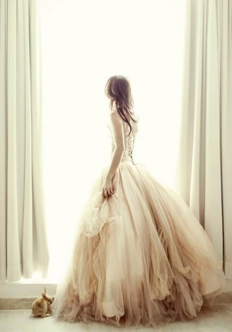 beautiful gold dipped wedding gown.