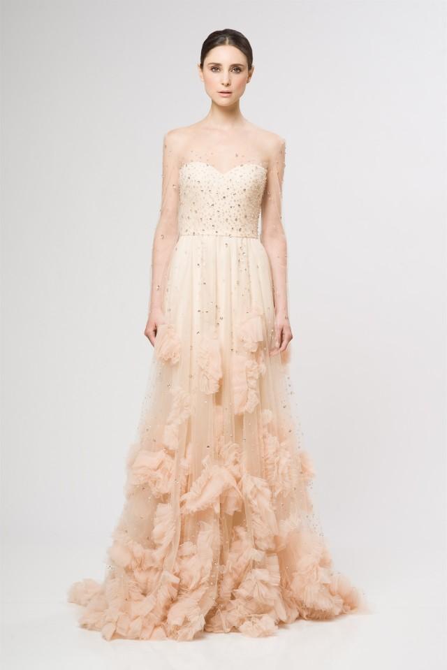 so so gradual ivory, pink, to dusty rose Reem Acra beauty.