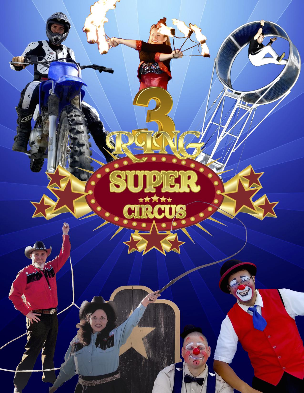 3 Ring Super Circus Poster