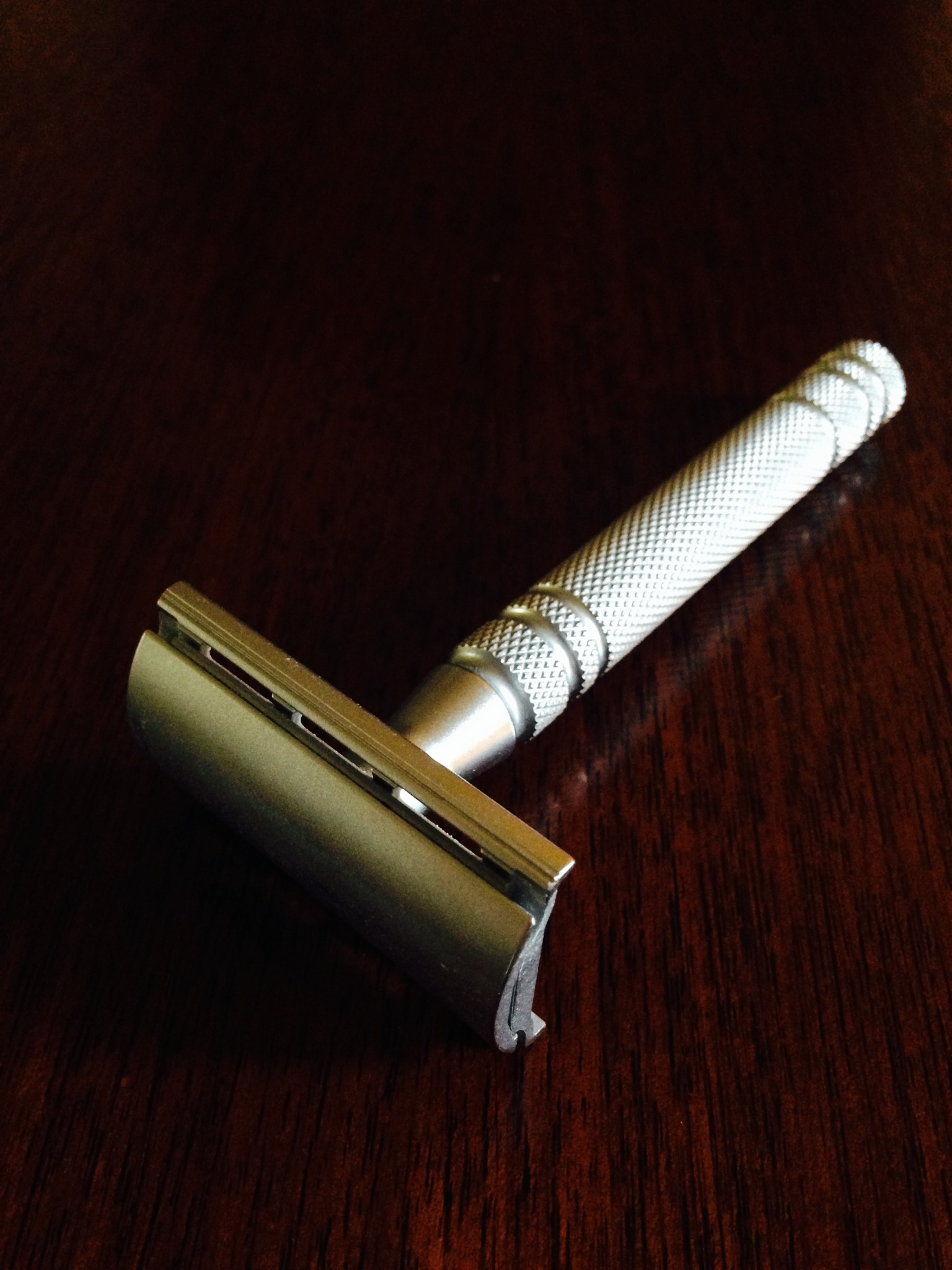 A Japanese Feather safety razor, perhaps the pinnacle of the genre.
